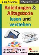 Cover-Bild zu Anleitungen und Alltagstexte lesen und verstehen (eBook) von Wertenbroch, Wolfgang