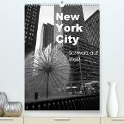 Cover-Bild zu New York City Schwarz auf Weiß (Premium, hochwertiger DIN A2 Wandkalender 2022, Kunstdruck in Hochglanz) von Aatz, Markus