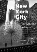Cover-Bild zu New York City Schwarz auf Weiß (Wandkalender 2022 DIN A3 hoch) von Aatz, Markus
