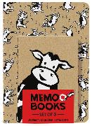 Cover-Bild zu Rosenthal, Amy Krouse: Holy Cow: Memo Books (Set of 3 Notebooks)