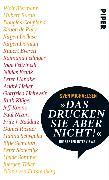 """Cover-Bild zu Michaelsen, Sven: """"Das drucken Sie aber nicht!"""" (eBook)"""