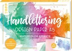 Cover-Bild zu Blum, Ludmila: Handlettering Design Paper Block Watercolor-Effekte A5
