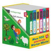 Cover-Bild zu Blanck, Iris (Illustr.): Duden 18+: 100 allererste Wörter-Würfel