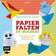Cover-Bild zu Precht, Thade: Papierfalten im Quadrat: Fantastische Wesen - Bastel-Kids