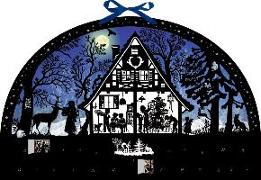 Cover-Bild zu Wandkalender - Lichterbogen Weihnachtswald
