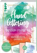 Cover-Bild zu Blum, Ludmila: Handlettering Design Paper Block Watercolor-Effekte A6