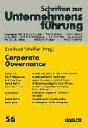Cover-Bild zu Corporate Governance von Scheffler, Eberhard (Hrsg.)