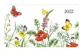 Cover-Bild zu Ladytimer Pad Butterflies 2022 - Taschen-Kalender 15,6x9 cm - Schmetterlinge - Weekly - 128 Seiten - Notiz-Buch - Alpha Edition