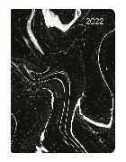Cover-Bild zu Mini-Buchkalender Style Marble 2022 - Taschen-Kalender A6 - Marmor - Day By Day - 352 Seiten - Notiz-Buch - Alpha Edition