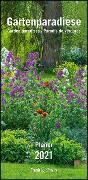 Cover-Bild zu Gartenparadiese Planer 2021 - Wandkalender - mit 3 Spalten - Format 22 x 45 cm von DUMONT Kalenderverlag (Hrsg.)