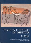 Cover-Bild zu Rivista ticinese di diritto 1/2010