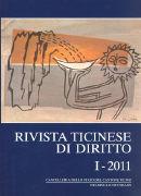 Cover-Bild zu Rivista ticinese di diritto 1/2011