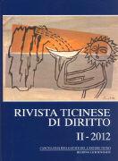 Cover-Bild zu Rivista ticinese di diritto 2/2012