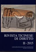 Cover-Bild zu Rivista ticinese di diritto II-2015