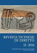 Cover-Bild zu Rivista ticinese di diritto II-2016