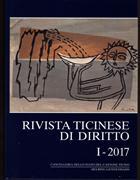 Cover-Bild zu Rivista ticinese di diritto I-2017