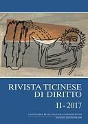 Cover-Bild zu Rivista ticinese di diritto II-2017