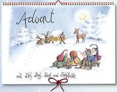 Cover-Bild zu Advent mit Zipf, Zapf, Zepf und Zipfelwitz / Adventskalender