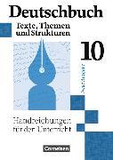 Cover-Bild zu Deutschbuch Gymnasium 10. Schuljahr. Neue Ausgabe. Handreichungen für den Unterricht von Brenner, Gerd