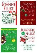 Cover-Bild zu Joanne Fluke Christmas Bundle: Sugar Cookie Murder, Candy Cane Murder, Plum Pudding Murder, & Gingerbread Cookie Murder (eBook) von Fluke, Joanne