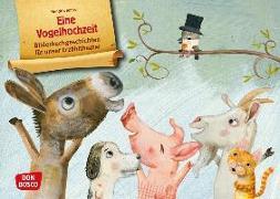 Cover-Bild zu Jonas, Hendrik: Eine Vogelhochzeit. Kamishibai Bildkartenset