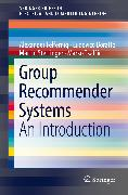 Cover-Bild zu Boratto, Ludovico: Group Recommender Systems (eBook)