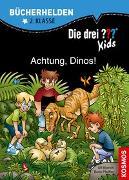 Cover-Bild zu Die drei ??? Kids, Bücherhelden, Achtung, Dinos! von Pfeiffer, Boris