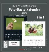 Cover-Bild zu Foto-Bastelkalender 2022 - 2 in 1: schwarz und weiss - Do it yourself calendar 21x22 cm - datiert - Foto-Kalender - Alpha Edition