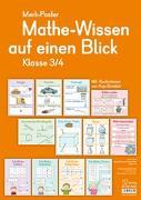 Cover-Bild zu Boretzki, Anja (Illustr.): Merk-Poster: Mathe-Wissen auf einen Blick - Klasse 3/4