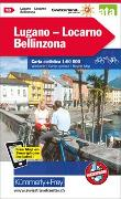 Cover-Bild zu Lugano - Locarno - Bellinzona Nr. 18 Velokarte 1:60 000. 1:60'000