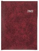 Cover-Bild zu Biella Geschäftsagenda Orario, weinrot 2022