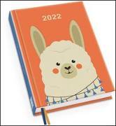 Cover-Bild zu Alpaka Taschenkalender 2022 - Tier-Illustration von Dawid Ryski - Terminplaner mit Wochenkalendarium - Format 11,3 x 16,3 cm