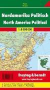 Cover-Bild zu Nordamerika politisch, 1:8 Mill., Poster, metallbestäbt. 1:8'000'000