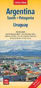 Cover-Bild zu Nelles Map Landkarte Argentina: South, Patagonia, Uruguay. 1:2'500'000