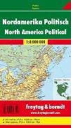 Cover-Bild zu Nordamerika physisch-politisch, Magnetmarkiertafel 1:8 Mill. 1:8'000'000