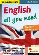 Cover-Bild zu eBook English all you need