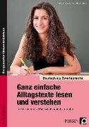 Cover-Bild zu Ganz einfache Alltagstexte lesen und verstehen von Jaglarz, Barbara