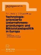 Cover-Bild zu Welfens, Paul J. J. (Hrsg.): Technologieorientierte Unternehmensgründungen und Mittelstandspolitik in Europa (eBook)