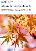 Cover-Bild zu Lektüre für Augenblicke 6 (eBook) von Stiller, Joachim