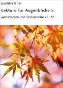 Cover-Bild zu Lektüre für Augenblicke 5 (eBook) von Stiller, Joachim