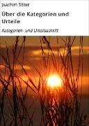 Cover-Bild zu Über die Kategorien und Urteile (eBook) von Stiller, Joachim