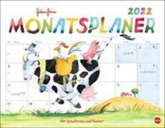 Cover-Bild zu Helme Heine Monatsplaner Kalender 2022 von Heine, Helme