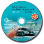 Cover-Bild zu Arbeitsblätter Kraftfahrzeugtechnik Lernfelder 1-4 interaktiv