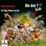 Cover-Bild zu Die drei ??? Kids: Adventskalender - 24 Tage Chaos im Zoo