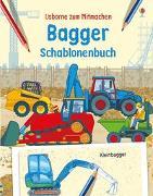 Cover-Bild zu Bagger Schablonenbuch von Stowell, Louie