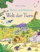 Cover-Bild zu Greenwell, Jessica: Malen und Stickern: Welt der Tiere