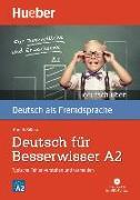 Cover-Bild zu Billina, Anneli: Deutsch üben Deutsch für Besserwisser A2. Buch mit MP3-CD
