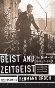 Cover-Bild zu Geist and Zeitgeist von Broch, Hermann
