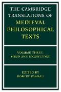 Cover-Bild zu Pasnau, Robert (Hrsg.): The Cambridge Translations of Medieval Philosophical Texts