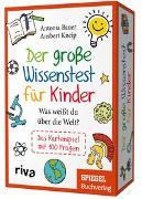 Cover-Bild zu Der große Wissenstest für Kinder - Was weißt du über die Welt? von Bauer, Antonia